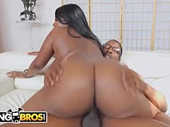 BANGBROS - Big Tits Ebony Pornstar Maseratti Gets Her Thick Black Booty Banged