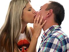 Hot tiny teeny Gina Gerson giving a butthole kissing