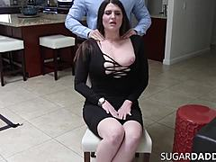 Chubby darling gross milk sacks mcgee gives scrumptious oral job & fuck