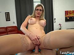 Stepmom cries out for my willy